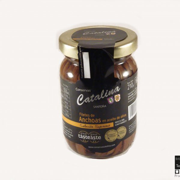 Barrileyte de anchoas Catalina 210 grs