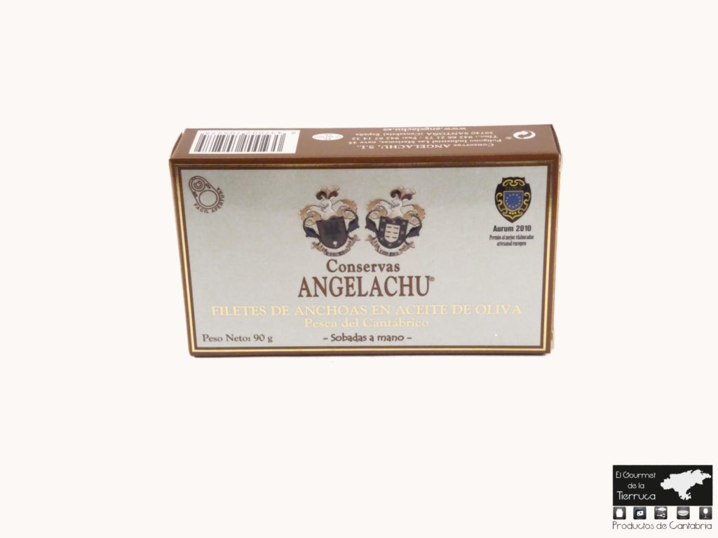 Doble octavillo de anchoas Angelachu 90 grs