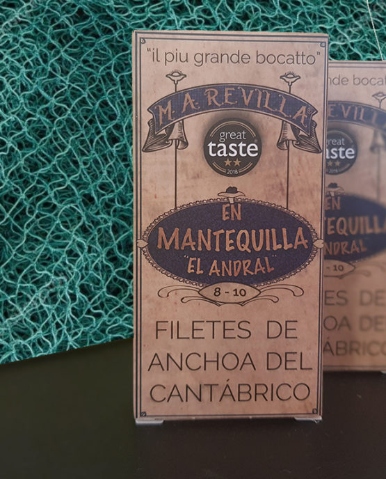 Anchoas en mantequilla Revilla